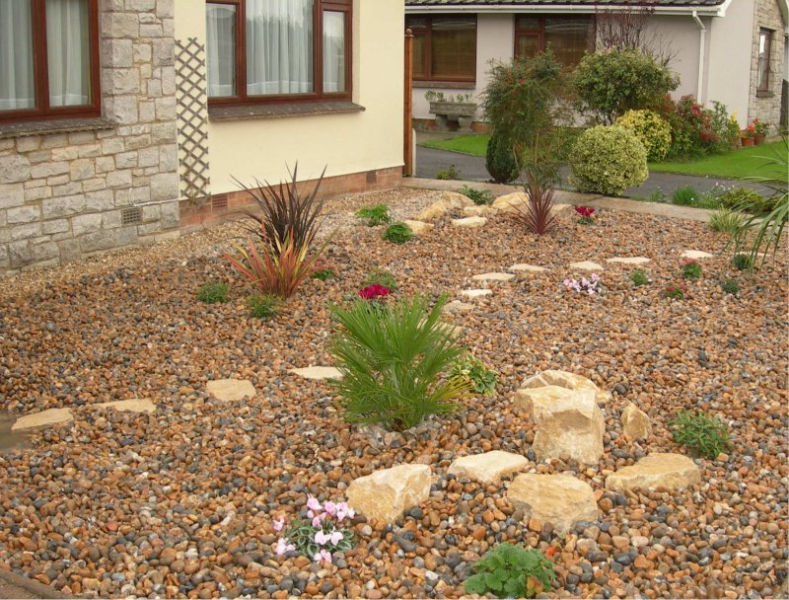 A low maintenance front garden gbd garden design for Low maintenance front garden